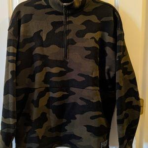 PINK VS 1/4 zip sweater